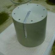 Anodisation incolore pièce de 500kg avec épargne