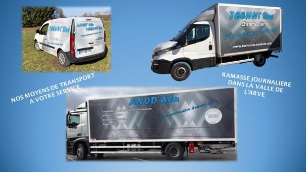 anodisation logistique moyen de transport