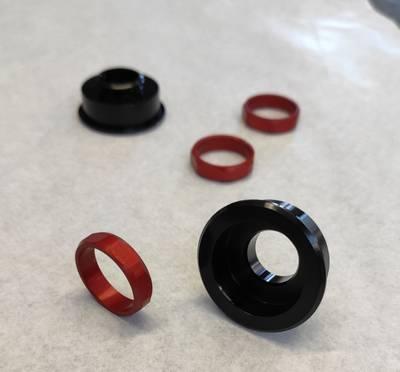 anodisation rouge et noire